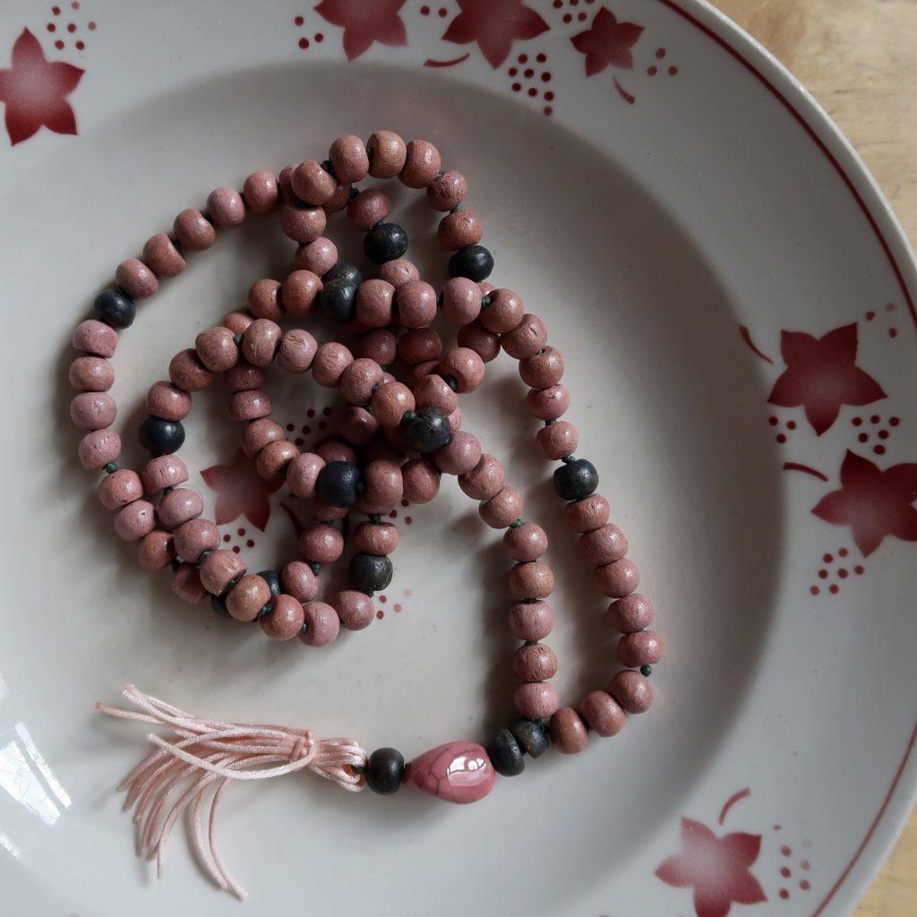 mala hout roze yoga meditatie